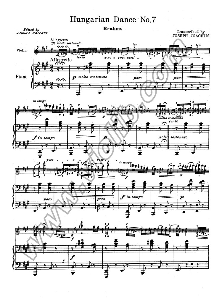 """И. Брамс """"Венгерский танец №7"""""""