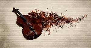 Обои (скрипка, абстракция)