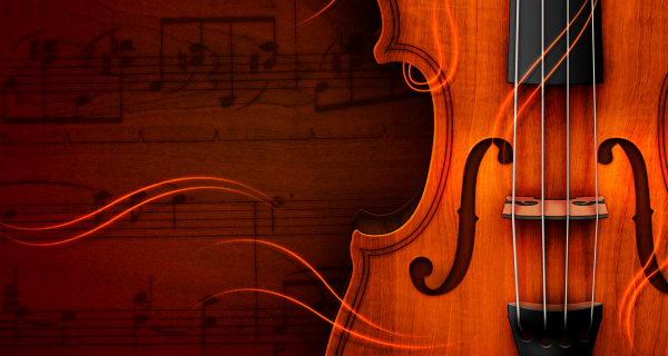 Обои (скрипка, ноты)
