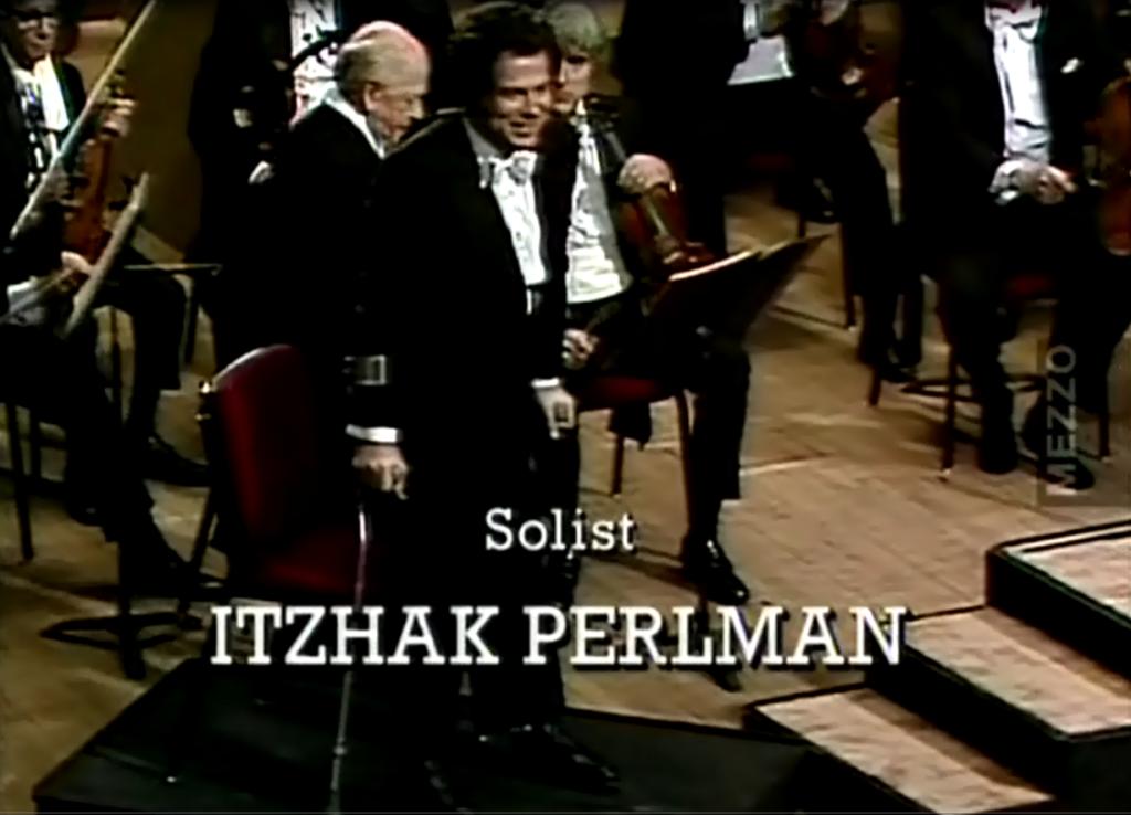 """П. И. Чайковский """"Концерт для скрипки"""" исполняет И. Перльман"""