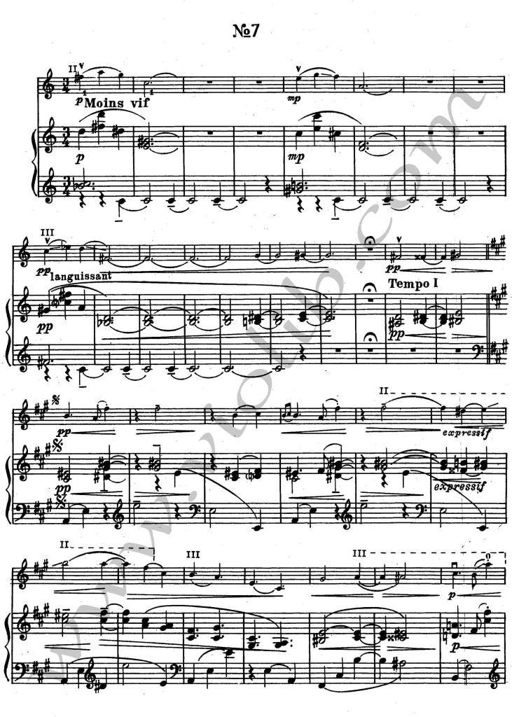 """М. Равель """"Благородные и сентиментальные вальсы"""" """"Вальс №7"""" ноты для"""