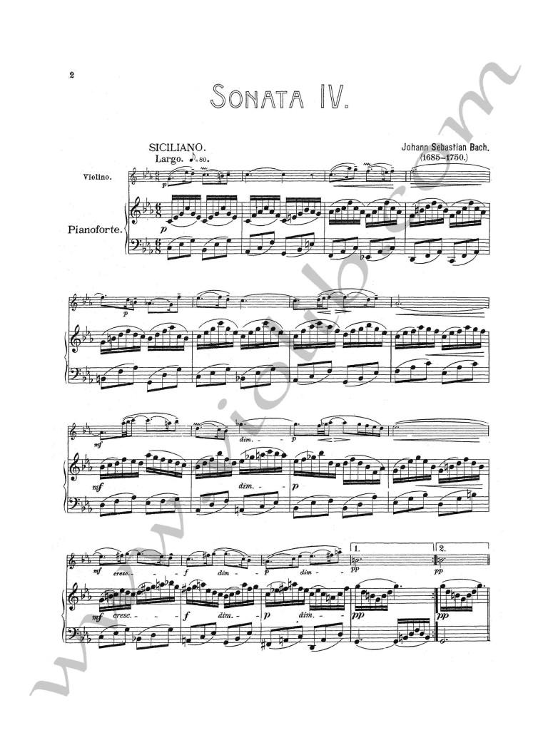 """И. С. Бах """"Соната №4"""" до-минор для скрипки и фортепьяно"""