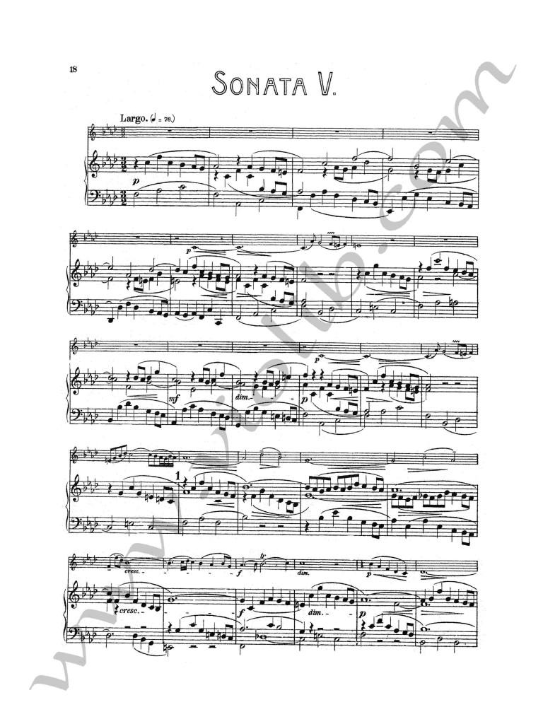 """И. С. Бах """"Соната №5"""" для скрипки и фортепьяно"""
