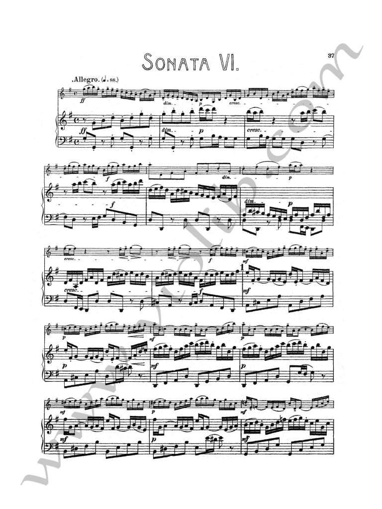"""И. С. Бах """"Соната №6"""" для скрипки и фортепьяно"""